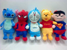 Tas Doraemon Superman Spiderman Fullbody