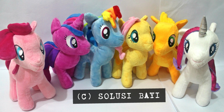 BONEKA PELUK PLUSH DOLL MY LITTLE PONY UKURAN SEDANG