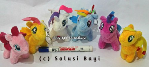 GANTUNGAN KUNCI MY LITTLE PONY HELLO KITTY DORAEMON
