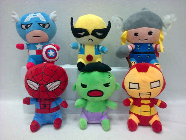 BONEKA SUPERHERO AVENGERS CAPTAIN THOR IRONMAN HULK SPIDERMAN XMEN