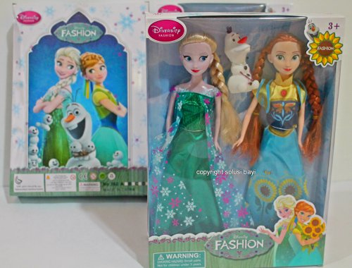 barbie elsa anna olaf frozen fever