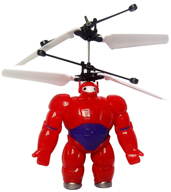 flying baymax merah