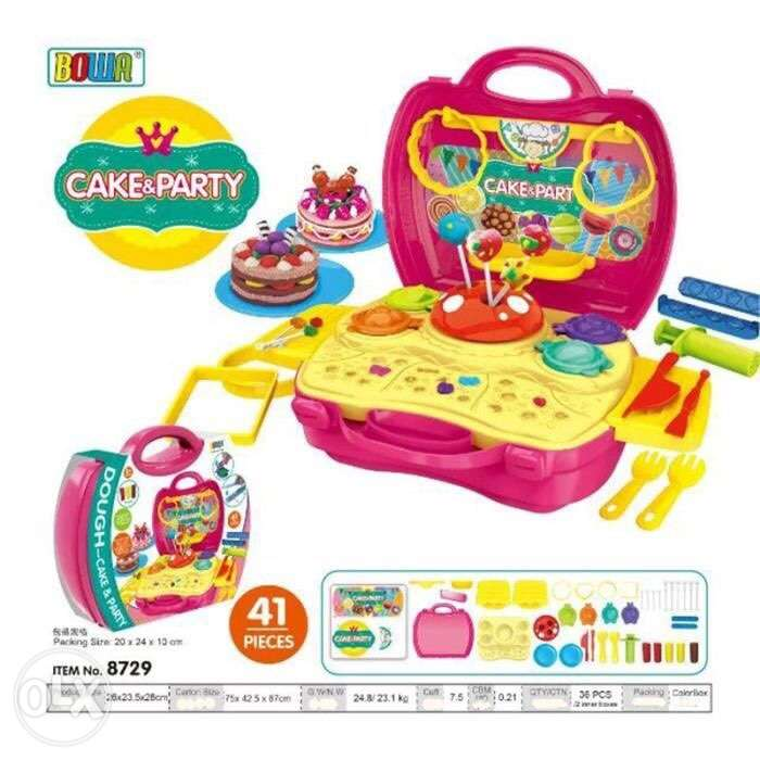dough cake and party set